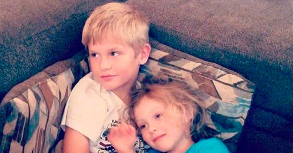 Hayden King, 9 anos, e Harper Edens, 5 anos, motos por uma arma de calibre .40, na Carolina do Sul.