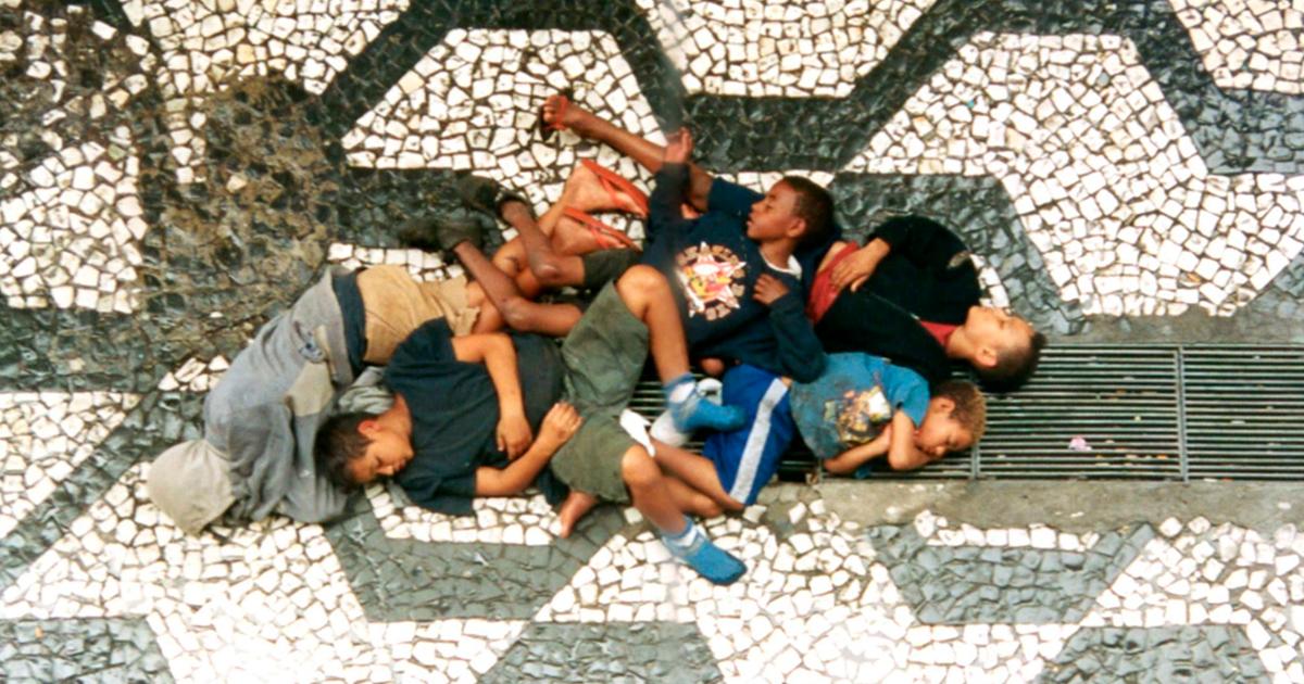 Crianças de rua na cidade de São Paulo